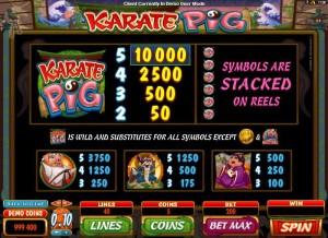 Karate-Pig-paytable