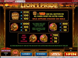 Lion's-Pride-paytable