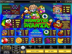 Monster-Mania-paytable