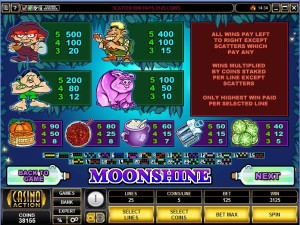 Moonshine-paytable