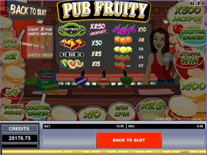 Pub-Fruity-paytable