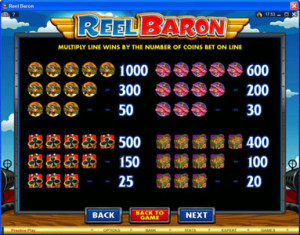 Reel-Baron-paytable