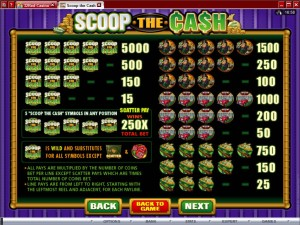 Scoop-the-Cash-paytable