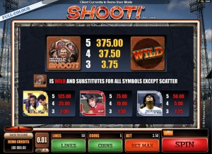 Shoot-paytable