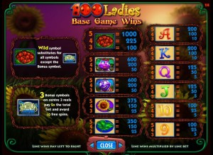 100-Ladies-paytable