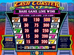 Cash-Coaster-paytable