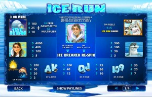 Ice-Run-paytable