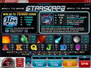 Starscape-paytable