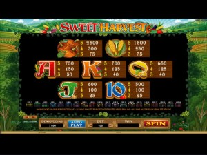 Sweet-Harvest-paytable