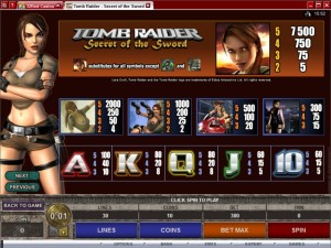 Tomb-Raider-Secret-of-the-Sword-paytable