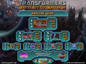 Transformers-Battle-For-Cybertron-paytable
