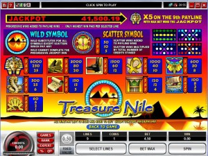 Treasure-Nile-5-Reel-paytable