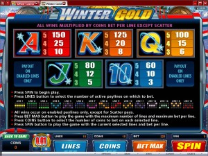 Winter-Gold-paytable