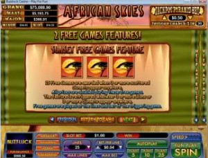 African-Skies-sunset-free-spins