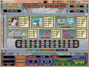 Ancient-Wonders-paytable