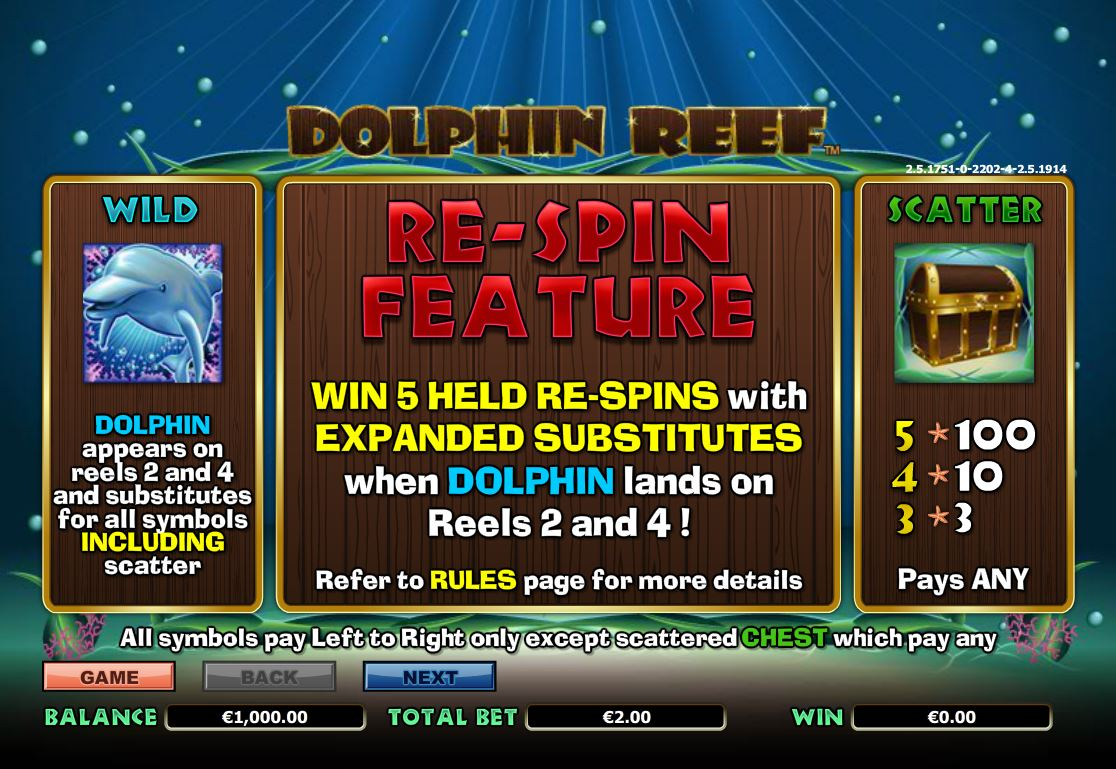Free slot machine dolphin reef