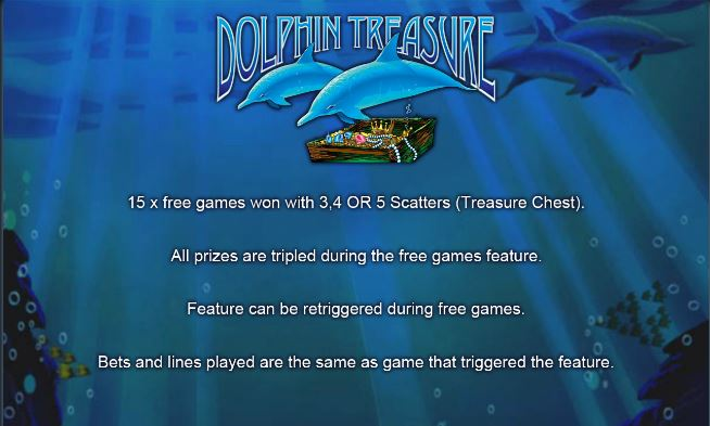 Dolphin Treasure Slot Machine - Free Play Slots or to Win Real Money