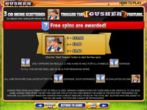 Gusher-free-spins