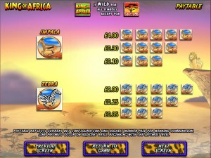 King-of-Africa-paytable