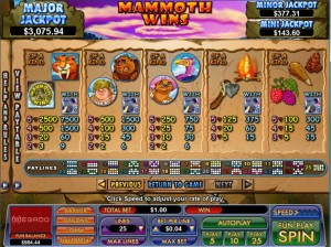 Mammoth-Wins-paytable