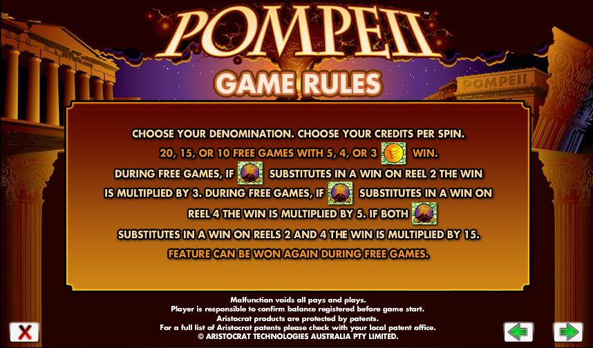 free casino games pompeii