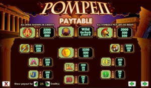 Pompeii-paytable
