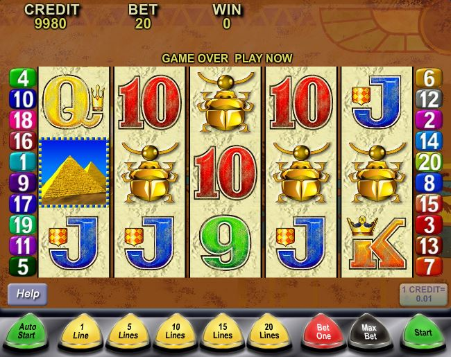 video slots queen of the nile