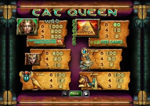 Cat-Queen-paytable