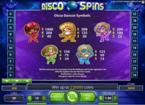 Disco-Spins-paytable