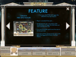 Orion-free-spins