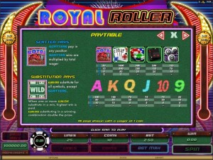 Royal-Roller-paytable