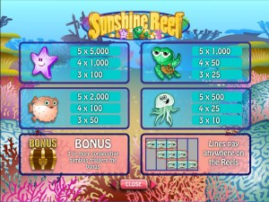 Sunshine-Reef-paytable
