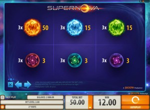 Supernova-paytable