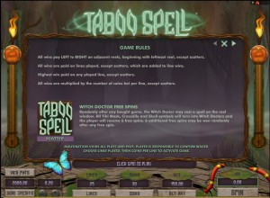 Taboo-Spell-rules