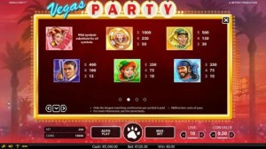 Vegas-Party-paytable