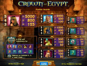 Crown-of-Egypt-paytable